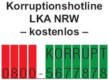 Die NRW-Korruptionshotline.