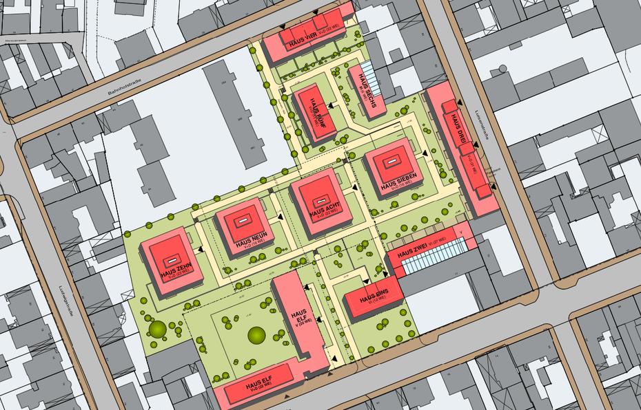 Im offenbacher luisenhof entstehen 220 wohnungen for Immobilien offenbach