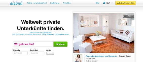 Bild: Screenshot airbnb.de