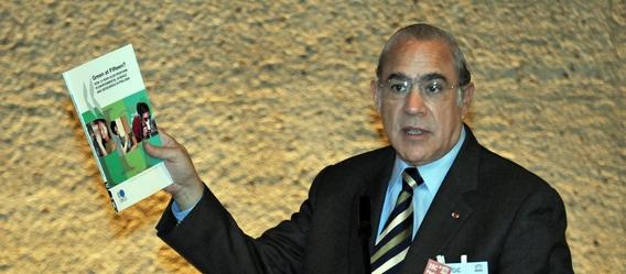 Fordert in Deutschland höhere Steuern auf Immobilien: OECD-Generalsekretär Angel Gurria. Bild: OECD
