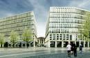 Neubau vorm Bahnhof
