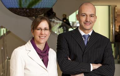Silke Bosbach und Ramsi Eljabi.
