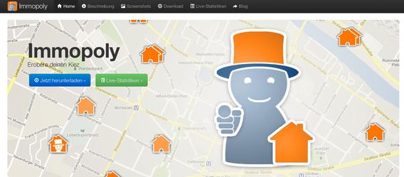 Auf Immopoly.org gibt es weitere Informationen zur neuen App. Screenshot: immopoly.org
