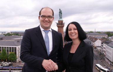 Centermanager Axel Haug und Katja Seiffert.