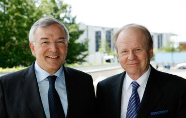 Prof. Thomas Bauer und Herbert Bodner (v.l.n.r.).