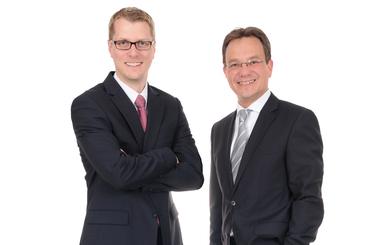 Die Geschäftsführer von Assetando Capital: Thorsten Boll (links) und Matthias Voss.