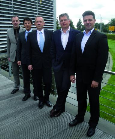 Der neue Vorstand von LonMark Deutschland (v.l.n.r.): Martin Mentzel, Detlef Lau, Jörg Teichmann, Jan Spelsberg und Sven Gensmüller.