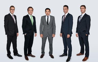 Die fünf Immoraum-Gesellschafter (von links): Sven Kersten, Sven Gruber, Roman Herdt, Christian Lauser und Benjamin Lauser.