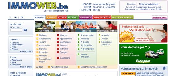 Bild: Screenshot immoweb.be