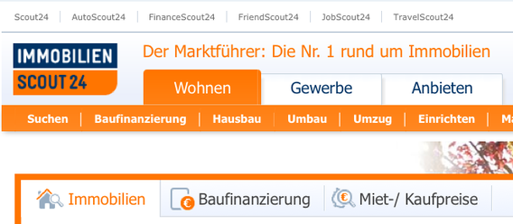 Bild: Screenshot immobilienscout24.de
