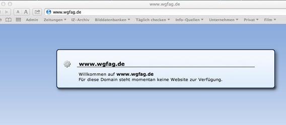 Bild: Screenshot wgfag.de
