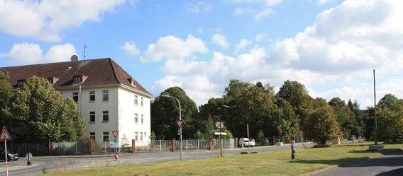 So sieht die Kaserne heute seitens der Braunschweiger Straße aus. Bild: Kanada Bau
