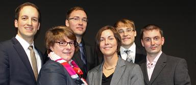 Die Gefma-Förderpreisträger 2013 (v.l.n.r.): Gerrit Fischer, Simone Blankenburg, Manuel Wider, Yvonne Schoebereichts, Andreas Diem und Stephan Stößel.