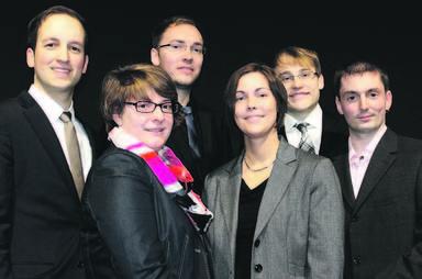 Die sechs Gewinner der diesjährigen Gefma-Förderpreise (v.l.n.r.): Gerrit Fischer, Simone Blankenburg, Manuel Wider, Yvonne Schoeberichts, Andreas Diem und Stephan Stößel.