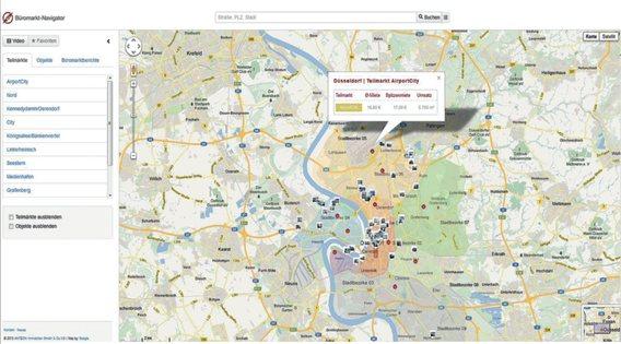 Büromarkt-Navigator mit Infos in Echtzeit