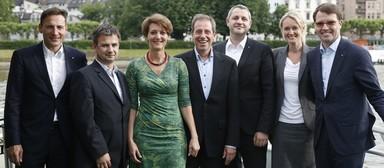 Der neu gewählte Immoebs-Vorstand (v.l.n.r.): Marko Bussat, Ralf Pilger, Anne-Kathrin Kaellner, Peter Jagel, Holger Matheis, Elena Letzner und Jörg Lammersen.