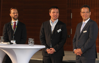 Marcus Lemli von Savills, Dierk Mutschler von Drees & Sommer und Bernd Wieberneit von Corpus Sireo Holding erläuterten, wie sie ihre Rolle als Arbeitgeber der Generation Y definieren.