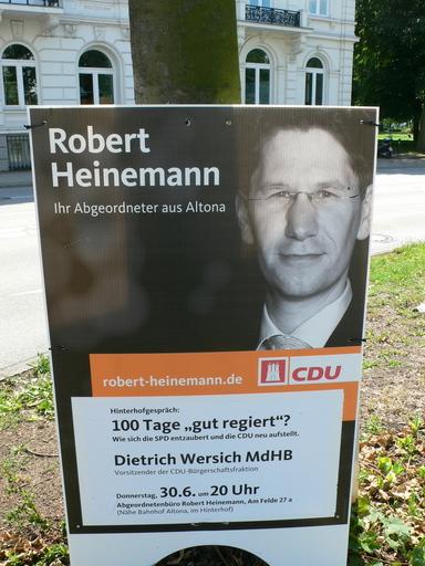 Wahlplakat von Robert Heinemann.
