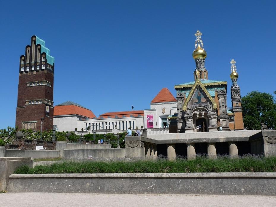 Architekten Darmstadt architektur jugendstil auf der mathildenhöhe in darmstadt
