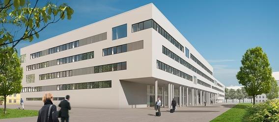 Mitte 2015 sollen die ÖPP-Büros fertig sein. Bild: Strabag