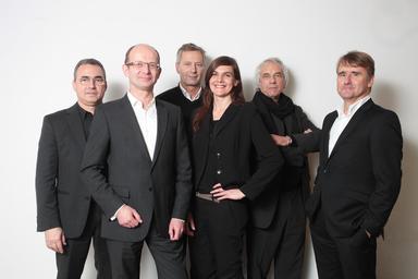 Das neu gewählte BDA-Präsidium (v.l.n.r).: Hermann Scheidt, Heiner Farwick, Florian Boge, Elke Reichel, Erwien Wachter und Kai Koch. Hubertus Eilers fehlt.