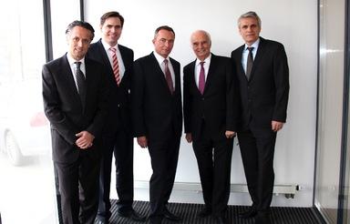 Das neue Führungsteam (v.l.n.r.): Alexander Lehmann, Zeljko Petrina, Ralf Moysig, Werner Lehmann und Anton Setter.