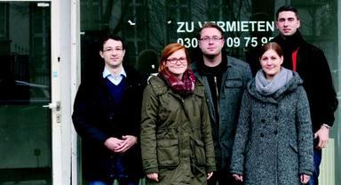 Sie wollen wieder Leben ins Erdgeschoss holen - Studenten der HTW Berlin.