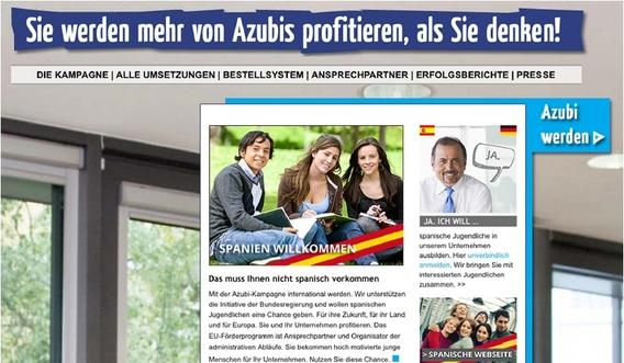 """Bild: <a href=""""http://www.azubi-kampagne.de"""" target=""""_blank"""">www.azubi-kampagne.de</a>/Screenshot IZ"""