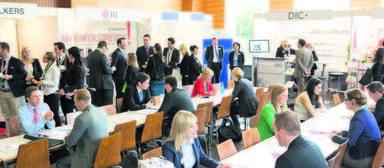 Das direkte Gespräch mit den Personalverantwortlichen der Unternehmen stand im Vordergrund der Jobmesse. Rund 400 Termine waren schon vorab fest vereinbart worden.