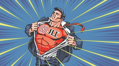 Klar der Superheld unter den Arbeitgebern: JLL lässt im Top-Arbeitgeber-Ranking der Immobilien Zeitung alle anderen genannten Unternehmen weit hinter sich.