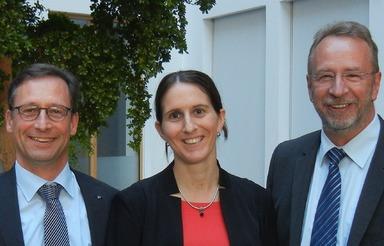 Der neu gewählte RealFM-Vorstand (v.l.): Thomas Knoepfle, Dr. Alexandra Merkel und Hermann Baass. Es fehlt Heinrich Quaderer.
