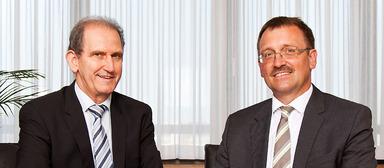 Die GBG-Geschäftsführer Wolfgang Bielmeier (links) und Karl-Heinz Frings.