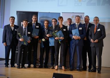 Die diesjährigen Preisträger der gif-Forschungspreise mit Laudatoren.