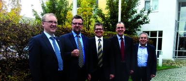 Der neue LonMark-Deutschland-Vorstand (v.l.): Matthias Lürkens, Hans Symanczik, Jan Spelsberg, Martin Mentzel und Jörg Seiffert.