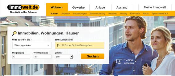 Bild: Screenshot immowelt.de