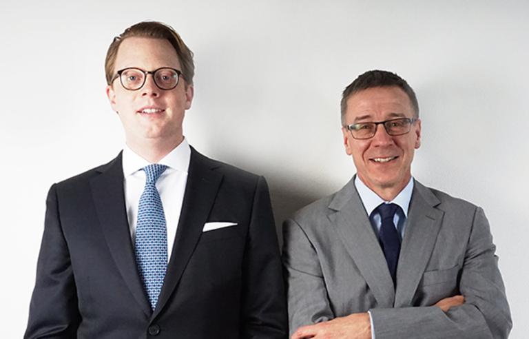 Garlef K. Reche (links) und Manfred Haas.
