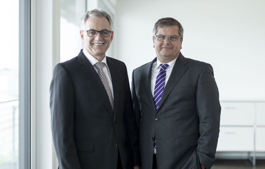 CFO Bernhard Scholtes (links) und CEO Thomas Sapper.