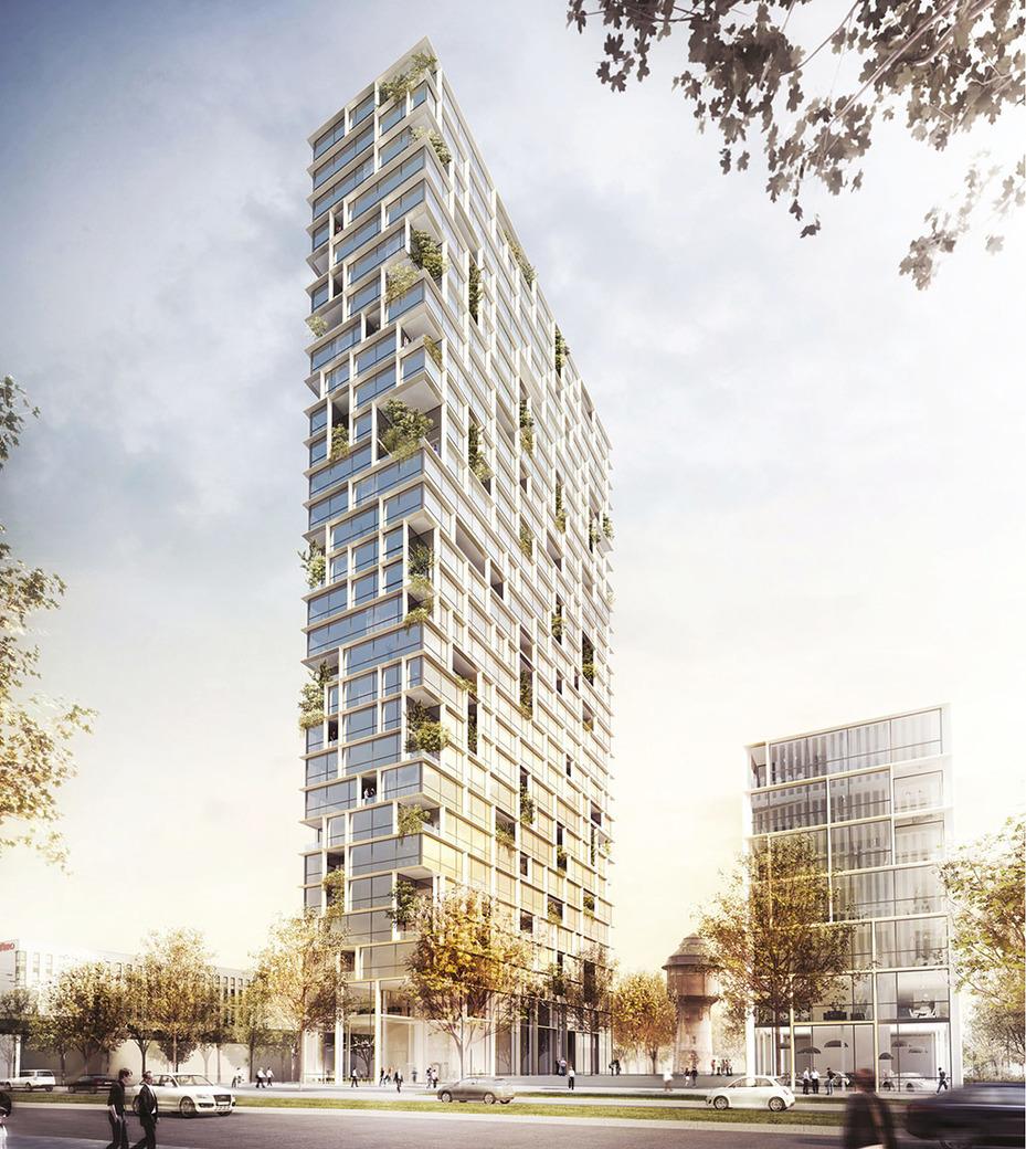 Architekturbüros Frankfurt 18 entwürfe für den porsche design tower in frankfurt