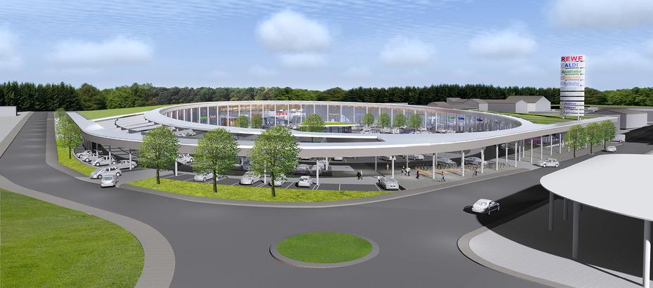 Architekten Wuppertal schoofs baut nahversorgungszentrum auf hanauer erbe areal