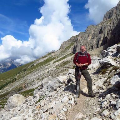 Richard Ott während eines dreiwöchigen Wanderurlaubs in Südtirol.