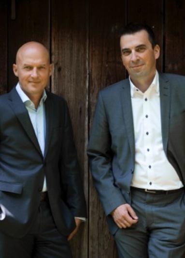 Die beiden baustein-Geschäftsführer Michael Küpper (links) und Stefan Gödeke.