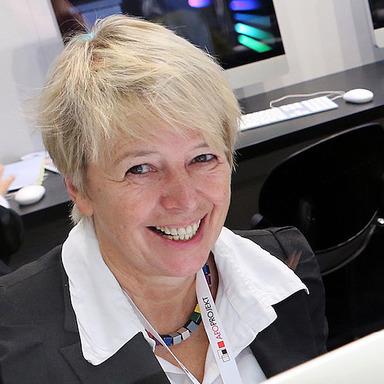 Gerda Gericke während der Expo Real.