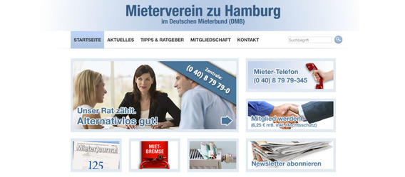 Bild: Screenshot: mieterverein-hamburg.de