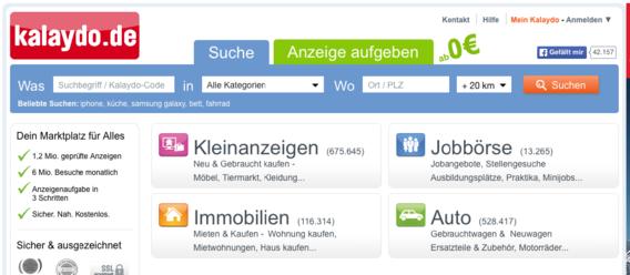 Bild: IZ/Screenshot: www.kalaydo.de