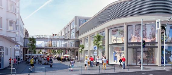Aus dem Tegel-Center soll nach dem Umbau das Tegel-Quartier werden. Bild: HGHI