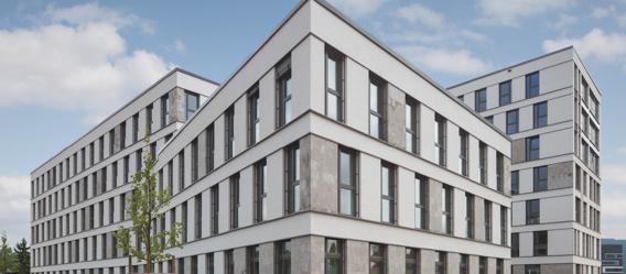 Spezialfonds DIC Office Balance I ist unter anderem in das Bürohaus Stadttor Heidelberg investiert.  Bild: DIC