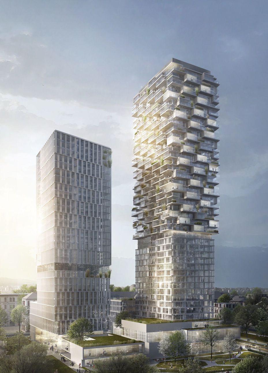 Frankfurt cyrus moser gewinnt hochhaus wettbewerb - Moser architekten ...