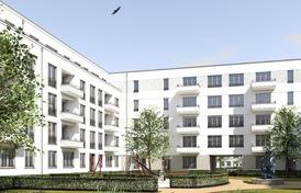 Die Kappus-Höfe in Offenbach bestehen aus drei autofreien Höfen. Die Fassade der Gebäude wurde ohne viel Schnickschnack gestaltet. Bild: Hilmer Sattler Architekten