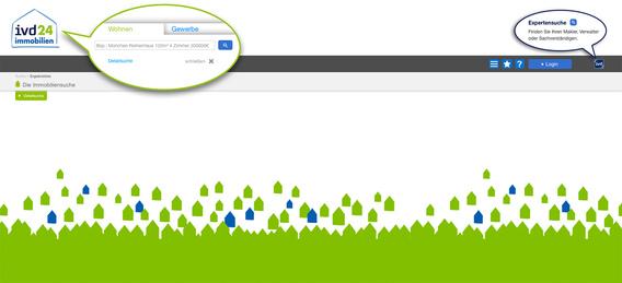 Bild: IZ/Screenshot der Website www.ivd24immobilien.de