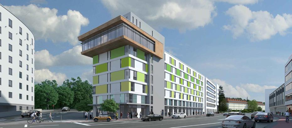 baustart f r hotel b ros und 150 wohnungen in mainz. Black Bedroom Furniture Sets. Home Design Ideas